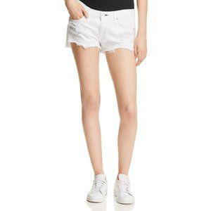 Rag & Bone White Distressed Denim Cut Off Shorts